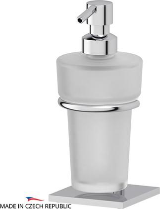 Дозатор для жидкого мыла настольный матовый хрусталь/хром Ellux DOM 001/ELU 004