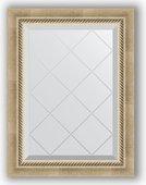 Зеркало Evoform Exclusive-G 530x710 с гравировкой, в багетной раме 70мм, состаренное серебро с плетением BY 4003