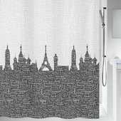 Штора для ванной Spirella Urban, 180x200см, текстиль, чёрно-белый 1015558