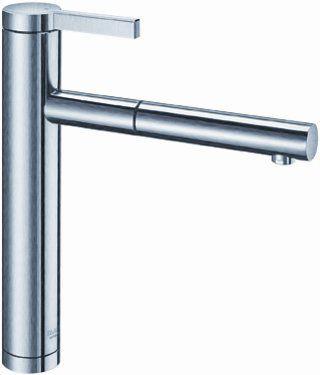Смеситель кухонный однорычажный с выдвижным изливом, нержавеющая сталь матовой полировки Blanco LINEE-S 517593