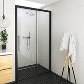 Душевая дверь Roltechnik Exclusive ECD2L, 120см, левая, прозрачное стекло, чёрный 564-120000L-05-02