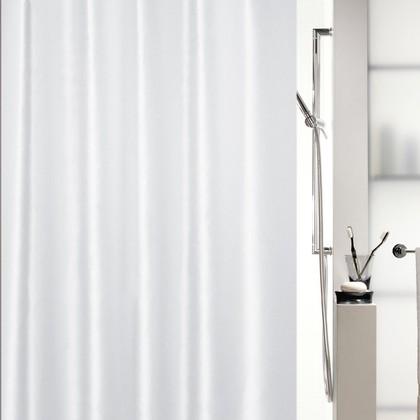 Штора для ванны 180x200см текстильная белая Spirella Shine 1015636