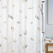 Штора для ванны 180x200см текстильная бежево-серая Spirella ESCARGOT 1040773