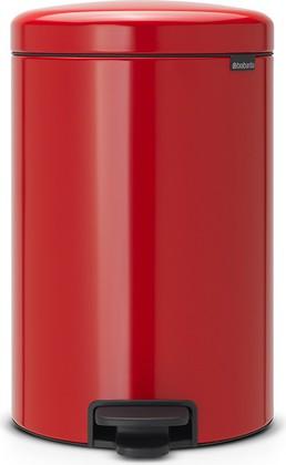 Мусорный бак с педалью 20л, пламенно-красный Brabantia Newicon 111860
