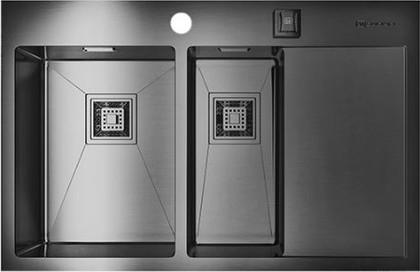 Кухонная мойка с правым крылом, нержавеющая вороненая сталь Omoikiri Akisame 78-2-GM-L 4993101