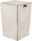 Корзина для белья Kleine Wolke Double Laundry Box 35x35x55см, белый, бежевый 8406202860