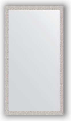 Зеркало в багетной раме 71x131см мозаика хром 46мм Evoform BY 3292