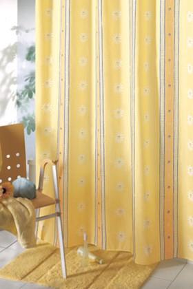 Штора для ванны 180x200см жёлтая с кольцами 12шт Grund PRIMAVERA 420.98.090