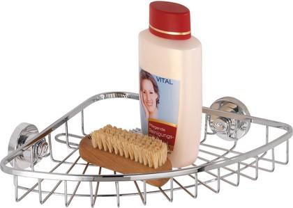 Полочка для ванной угловая Wenko Super-Loc, хром 17794100