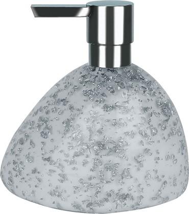 Ёмкость для жидкого мыла белая Spirella Etna Glitter 1016524