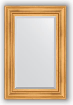 Зеркало с фацетом в багетной раме 59x89см травленое золото 99мм Evoform BY 3418