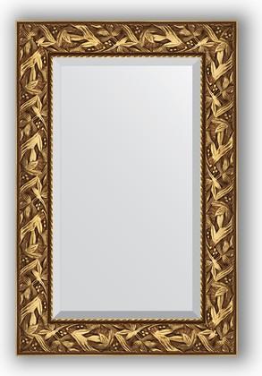 Зеркало с фацетом в багетной раме 59x89см византия золото 99мм Evoform BY 3415