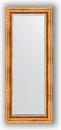 Зеркало с фацетом в багетной раме 56x136см римское золото 88мм Evoform BY 3516