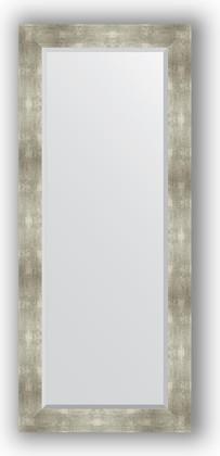 Зеркало 66x156см с фацетом 30мм в багетной раме алюминий Evoform BY 1190
