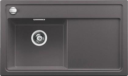Кухонная мойка чаша слева, крыло справа, с клапаном-автоматом, гранит, тёмная скала Blanco Zenar 45 S 519262