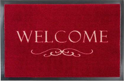 Коврик придверный Golze Homelike Welcome, 50x70, красный 1676-40-42