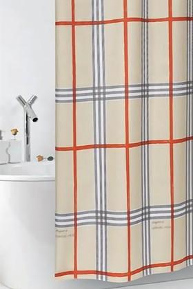 Штора для ванны 180x200см текстильная бежевая с кольцами 12шт Grund Fabric 3013.98.138