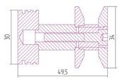 Вешалка Сунержа Каньон, для полотенцесушителя, полированная сталь 00-2010-0003