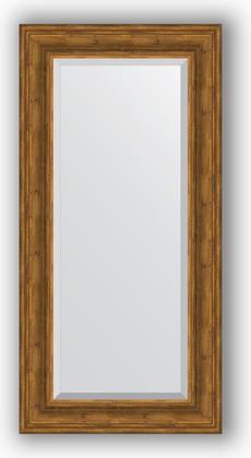 Зеркало с фацетом в багетной раме 59x119см травленая бронза 99мм Evoform BY 3498