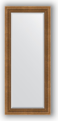 Зеркало с фацетом в багетной раме 67x157см бронзовый акведук 93мм Evoform BY 3570