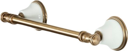 Держатель для полотенец 33.5см, белый/бронза TW Harmony TWHA014bi/br