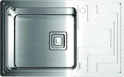 Кухонная мойка крыло справа, нержавеющая сталь матовой полировки Omoikiri Mizu 71-1-L 4993010