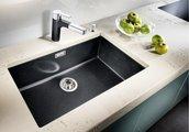 Кухонная мойка без крыла, с клапаном-автоматом, гранит, кофе Blanco Subline 700-U 515779