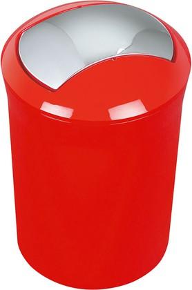 Ведро для мусора 5л красное Spirella Sydney Acrylic 1014383