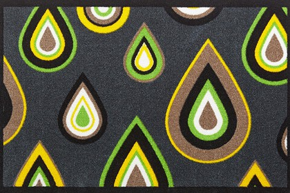 Коврик придверный 50x78см для помещения зелёные капли, полиамид Golze CONTZEN MATS PRETTY DRIPS 1700-40-005-030