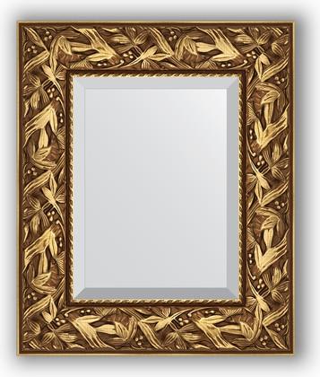 Зеркало с фацетом в багетной раме 49x59см византия золото 99мм Evoform BY 3363