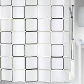 Штора для ванной Spirella Frame, 180x200см, полиэтилен, чёрно-белый 1001942