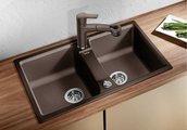 Кухонная мойка оборачиваемая без крыла, гранит, серый беж Blanco LEXA 8 517340