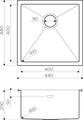 Кухонная мойка Omoikiri Taki 44-U/IF-IN, нержавеющая сталь 4973044