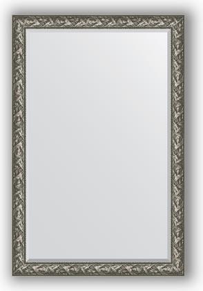 Зеркало с фацетом в багетной раме 119x179см византия серебро 99мм Evoform BY 3624