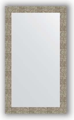 Зеркало в багетной раме 66x116см соты титан 70мм Evoform BY 3212
