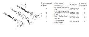 Смеситель вентильный для раковины на 3 отверстия настенный встраиваемый без встраиваемого механизма, хром Grohe GRANDERA 20414000