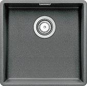 Кухонная мойка без крыла, с клапаном-автоматом, гранит, алюметаллик Blanco Subline 400-F 519798