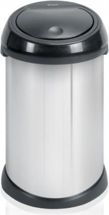 Ведро для мусора с пластиковой крышкой 50л сталь полированная Brabantia TOUCH BIN 421969