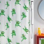 Штора для ванны 180x200см зелёная Spirella FROGTIME 1006487