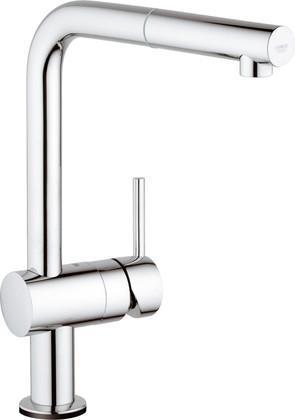 Сенсорный однорычажный кухонный смеситель с L-изливом, хром Grohe MINTA Touch 31360000