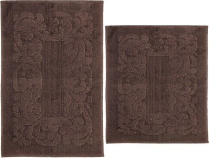 Набор ковриков для ванной Grund Azhur, 50x80см, 50x55см, полиэстер, шоколадный b2697-155106317/060106317