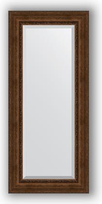 Зеркало с фацетом в багетной раме 67x152см состаренная бронза с орнаментом 120мм Evoform BY 3559