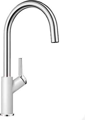 Смеситель кухонный однорычажный с высоким изливом, белый Blanco CARENA 520975