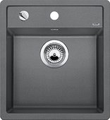 Кухонная мойка без крыла, с клапаном-автоматом, гранит, алюметаллик Blanco Dalago 45-F 517167