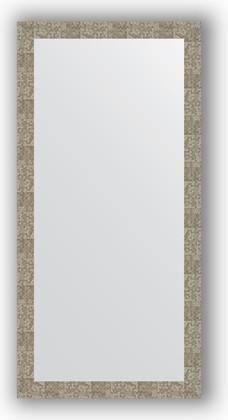 Зеркало в багетной раме 76x156см соты титан 70мм Evoform BY 3340