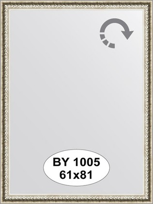 Зеркало 61x81см в багетной раме мельхиор Evoform BY 1005