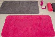 Коврик для ванной комнаты хлопковый 55x110см розовый Spirella LOVE 4006798
