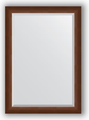 Зеркало 72x102см с фацетом 25мм в багетной раме орех Evoform BY 1197