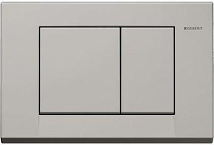 """Кнопка пластиковая двойного смыва для инсталляции, серая """"Manhattan"""" Geberit BOLERO 115.777.CG.1"""