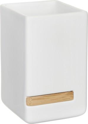 Стакан для зубных щеток керамический, белый Spirella Oslo 4007482
